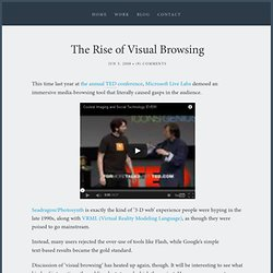 The Rise of Visual Browsing