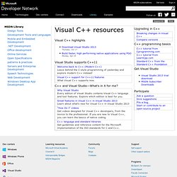 Visual C++ Resources
