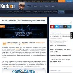 Visual Command Line – Un éditeur pour vos batchs