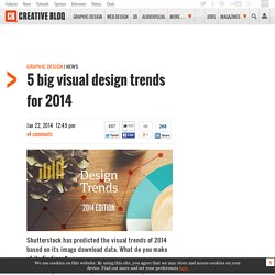 5 big visual design trends for 2014