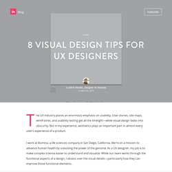 8 visual design tips for UX designers