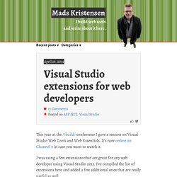 Visual Studio extensions for web developers