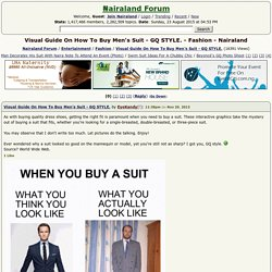 Visual Guide On How To Buy Men's Suit - GQ STYLE. - Fashion