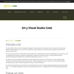 Git y Visual Studio Code — Lemoncode formacion