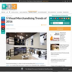 5 Visual Merchandising Trends of 2016