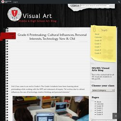 Middle & High School Art Blog