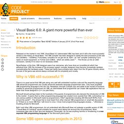 Visual Basic 6.0: A giant more powerful than ever