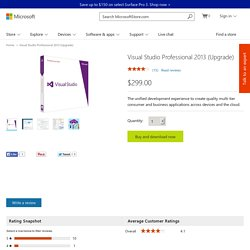 Buy Visual Studio Professional 2016