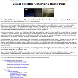 Visual Satellite Observer's Home Page