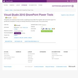 Visual Studio 2010 SharePoint Power Tools