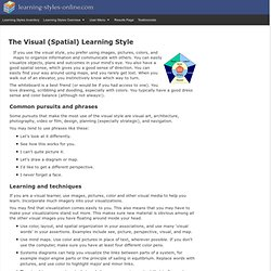 The visual (spatial) learning style