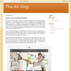 The AV King - Brisbane Home Automation
