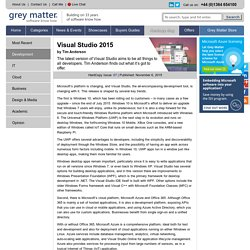 Visual Studio 2015 » Grey Matter