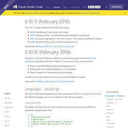 Visual Studio Code February 0.10.10