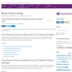 Visual Studio and Team Foundation Server at Build 2015
