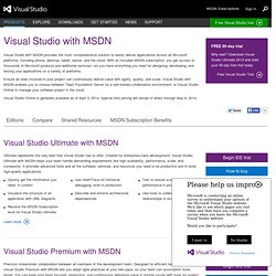 Visual Studio 2010 Editions | Microsoft Visual Studio