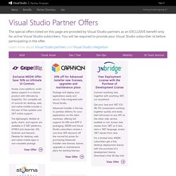 Visual Studio Partner Offers