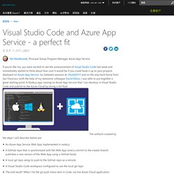 Visual Studio Code and Azure App Service - a perfect fit