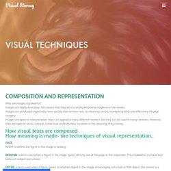 VISUAL TECHNIQUES - Visual literacy