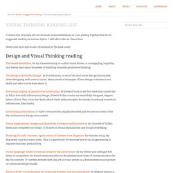 Visual Thinking reading list
