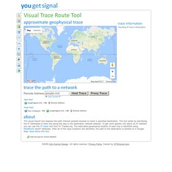 Visual Trace Route Tool - Find, Track, and Map the Route to an IP Address