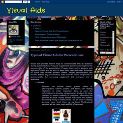 Visual Aids: Types of Visual Aids for Presentations