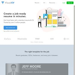 VisualCV • Get a better resume, online.