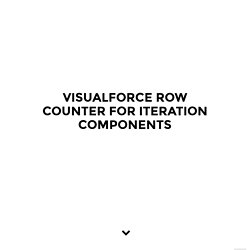Visualforce Row Counter for Iteration Components