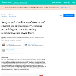 Analysis and visualisation of structure of smartphone application services using text mining and the set-covering algorithm: A case of App Store