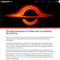 This NASA Visualisation of a Black Hole Is So Beautiful, We Could Cry