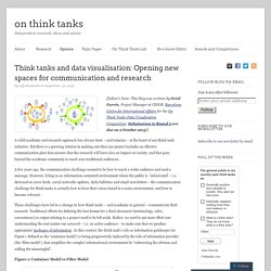 Think tanks and data visualisation: Opening new spaces for communication and research