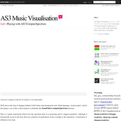 AS3 music visualisation