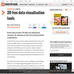 20 free data visualisation tools