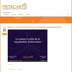 Meetup : la caisse à outils de la visualisation d'information « MetaCarto | Geomatic | Scoop.it