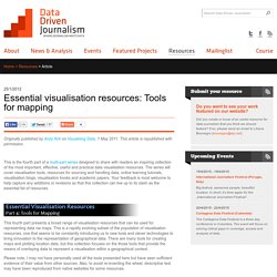 Essential visualisation resources: Tools for mapping