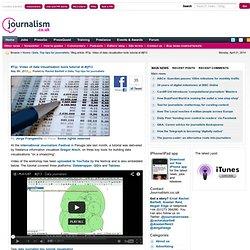 Video of data visualisation tools tutorial at #ijf13