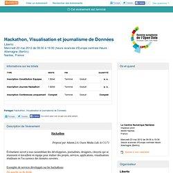 Hackathon, Visualisation et journalisme de Données - Eventbrite