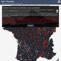 : Data-visualisation sur les pesticides dans les eaux souterraines