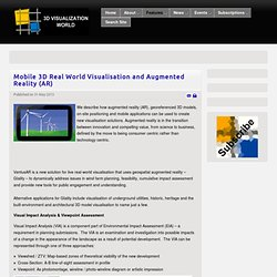 Mobile 3D Real World Visualisation and Augmented Reality (AR) - 3D Visualization World