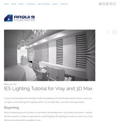 IES Lighting Tutorial for Vray and 3D Max - Arqui9 - Architectural Visualisation