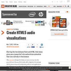 Create HTML5 audio visualisations