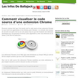 Comment visualiser le code source d'une extension Chrome
