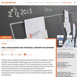 Snel visualiseren van strategie, concept en ontwerp