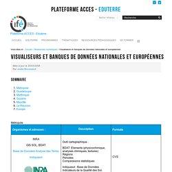 Visualiseurs et banques de données nationales et européennes