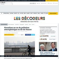 Visualisez un an de pollution atmosphérique en Ile-de-France