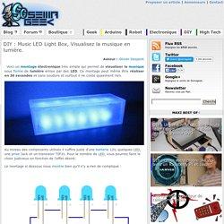 Music LED Light Box, Visualisez la musique en lumière.