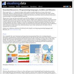 DataViz: Programming languages, toolkits and libraries
