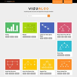 VisuAlgo - visualising data structures and algorithms through animation