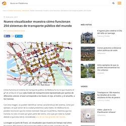 Nuevo visualizador muestra cómo funcionan 254 sistemas de transporte público del mundo