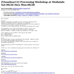 [Visualizar11] Processing Workshop at Medialab: Sat-06/26 thru Mon-06/28